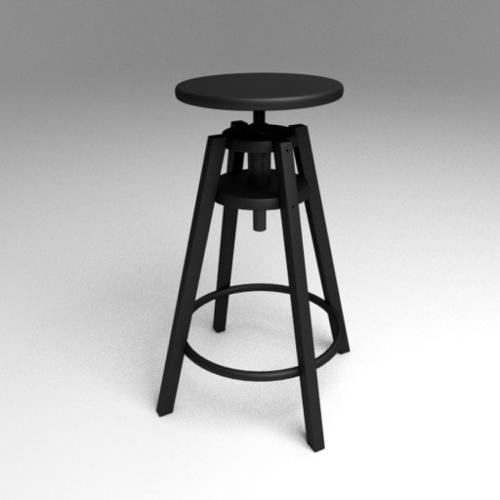 Ikea DALFRED Bar Black Wood Stool preview image