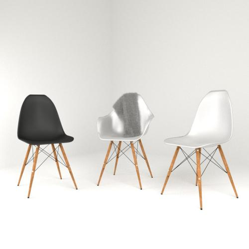 Eames scandinavian design chair (aka Eiffel chair) preview image
