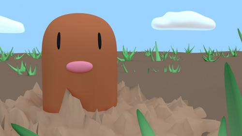 A Diglett on the desert preview image