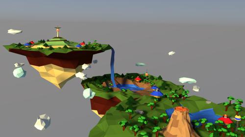low poly islands preview image