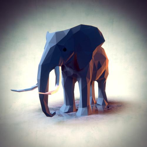 Low Poly Elephant preview image