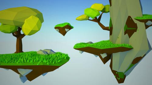 Flying Islands  - Low Poly preview image