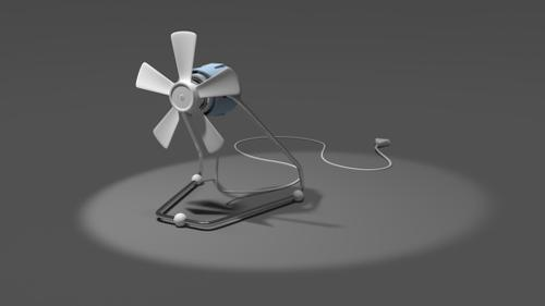 Rigged desk fan preview image