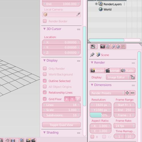 very pink theme preview image