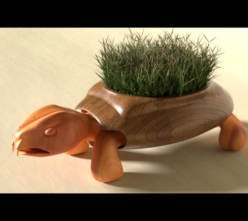 Wooden Garden Turtle preview image