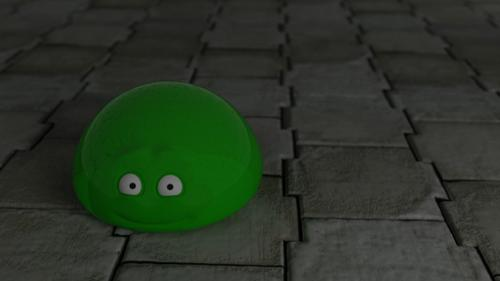 Happy Green Glob Monster preview image