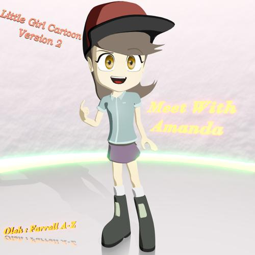 Little Girl Cartoon Character Version 2 preview image