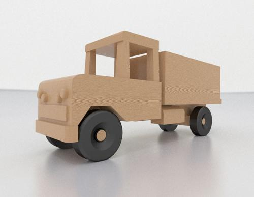 Wooden Toy Truck preview image