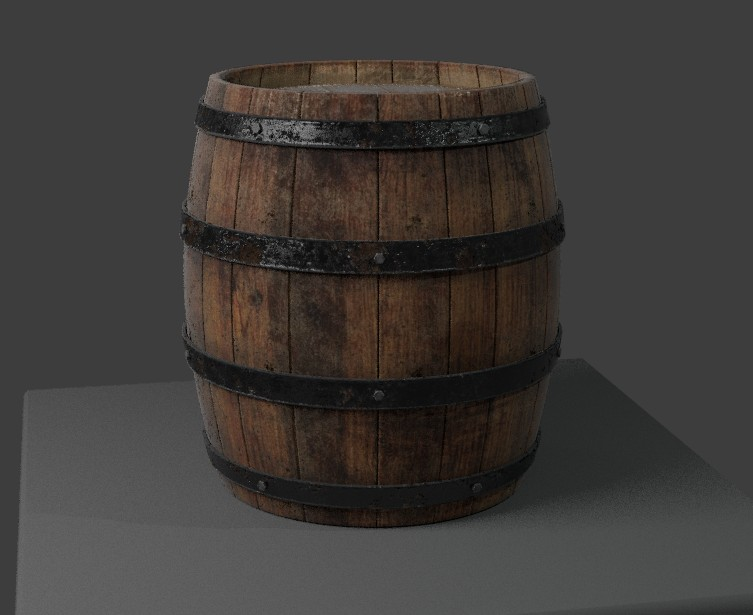 Wooden Barrel preview image 1