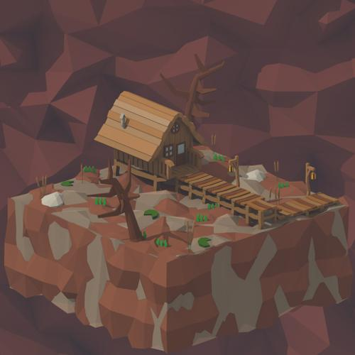 Swamp Hut (LowPoly) preview image