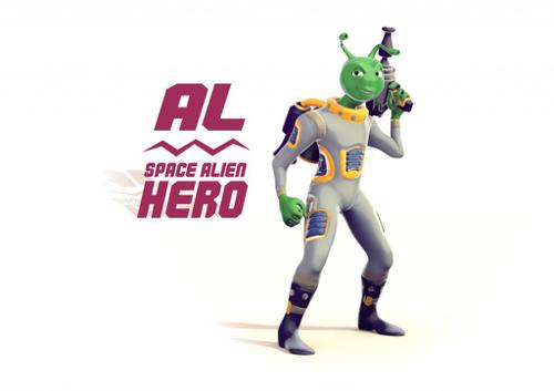 Al the Space Alien Hero - Character Rig preview image