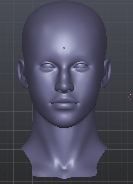 Female head preview image 2