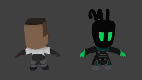 Lucian And Thresh rigged preview image