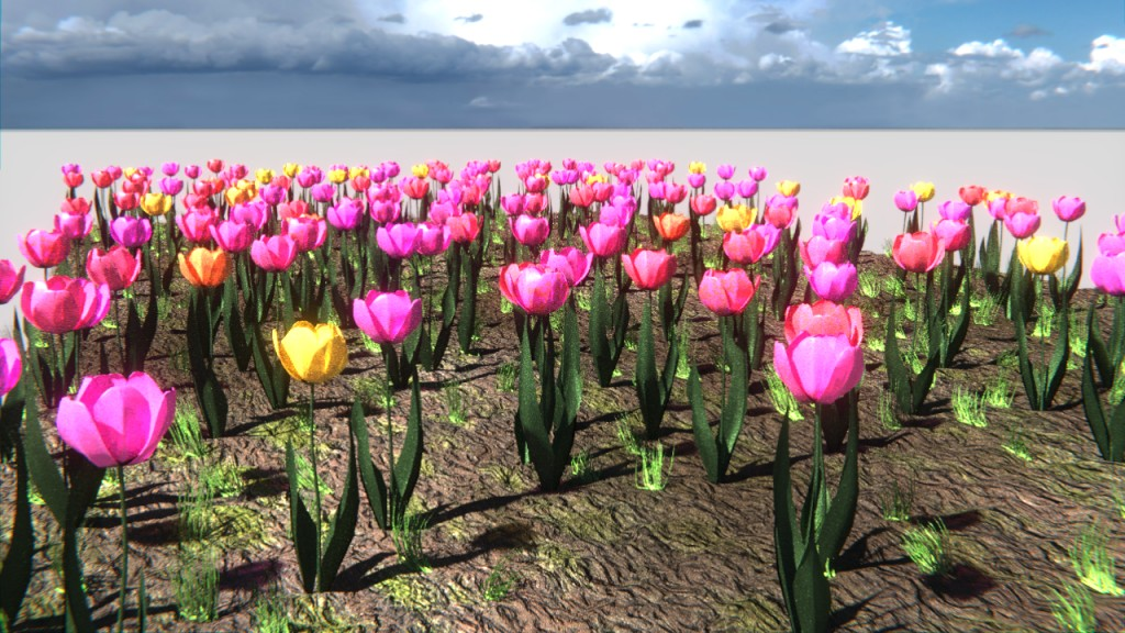 randomly colored tulips preview image 2