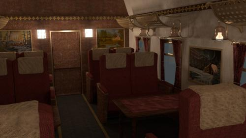 Train Compartment (Old Fashioned) preview image