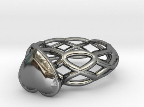 Archytas Curve Ring 17.53mm with Heart Gem preview image