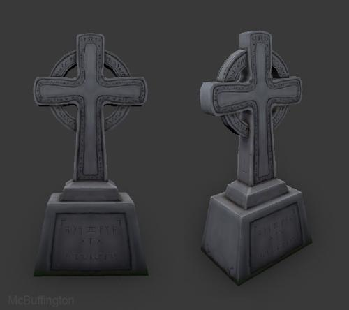 Celtic Tombstone Handpainted preview image