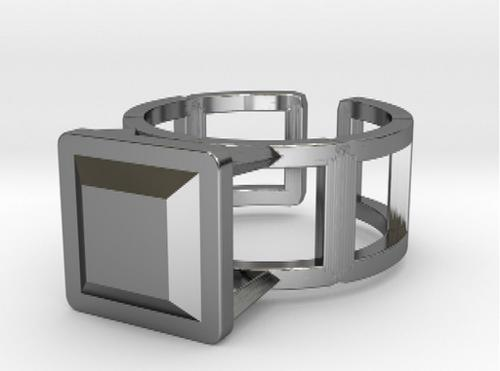 Square Wire Ring 17.53mm with Square Gem preview image