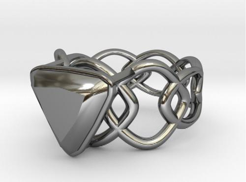 Conical Catenary Curve Ring 17.53mm with Trillant Gem preview image