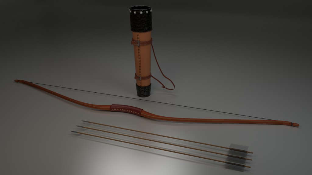 Classic Bow and Quiver preview image 1