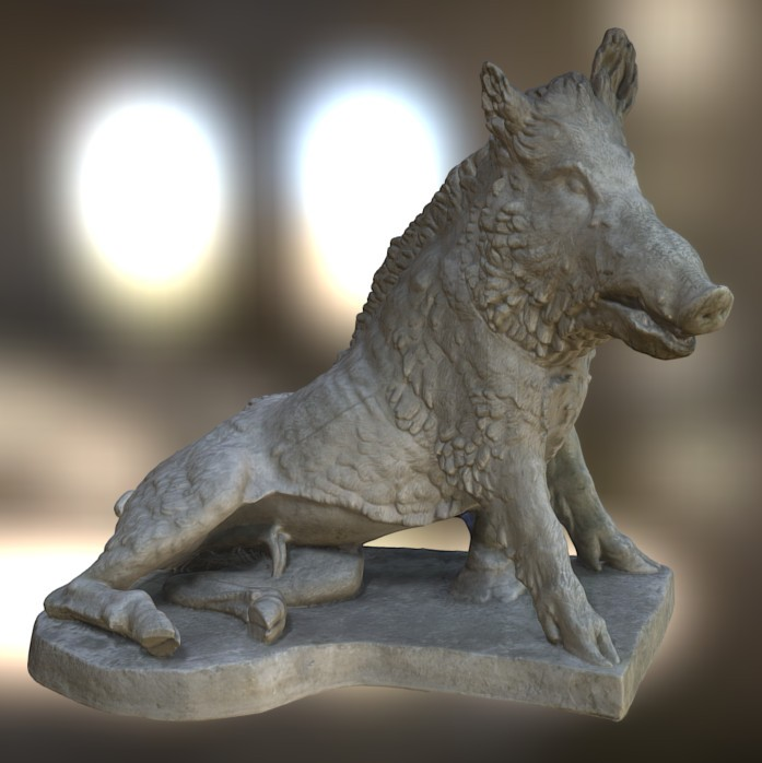 Seated Wild Boar preview image 1