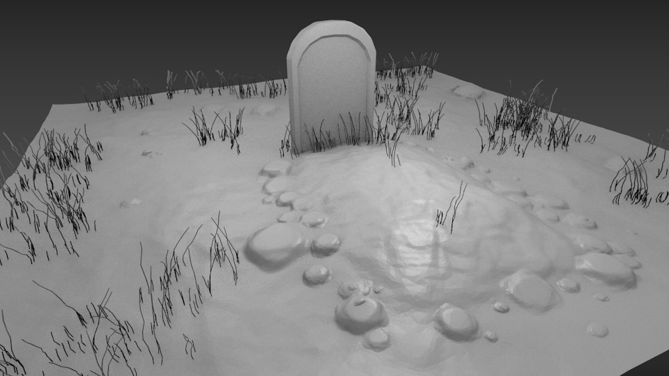 Small Graveyard Scene preview image 1