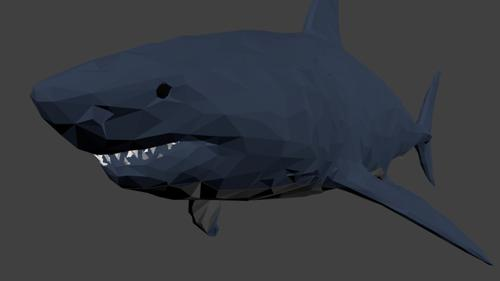 Low Poly shark preview image