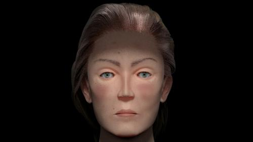 Realistic Woman Head preview image