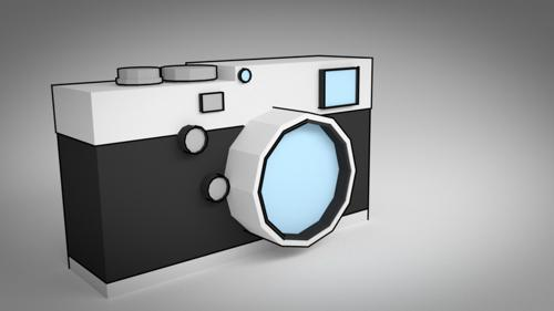 Low poly camera in Blender preview image