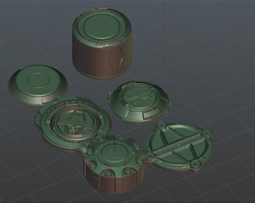 Hard surface objects preview image