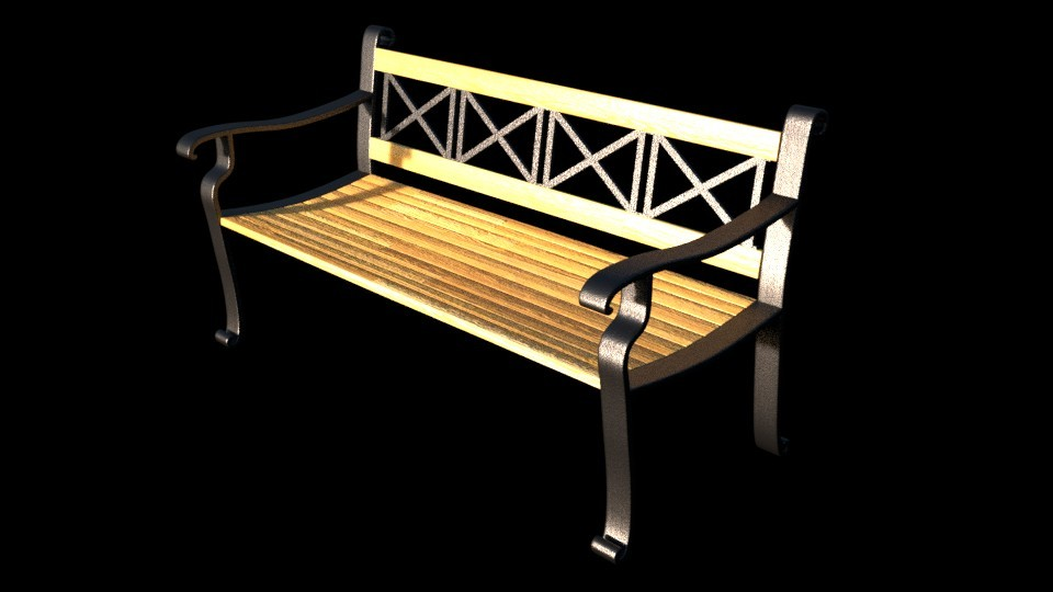 Patio Bench (Ironwood) preview image 1