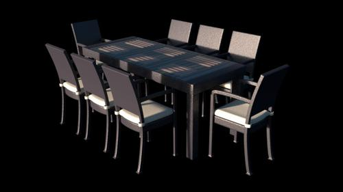 Patio Dining Set (Slate Gray) preview image