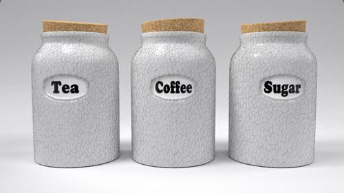 Tea, Coffee, Sugar Jars preview image