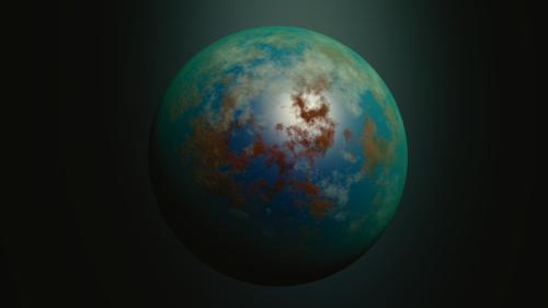 Procedural alien planet preview image