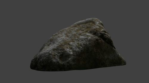 Realistic photoscanned stone or boulder preview image