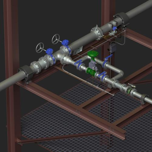 Control valve piping preview image