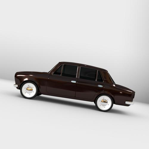 Russian Lada manifold car model ( low poly 3D printable ) preview image