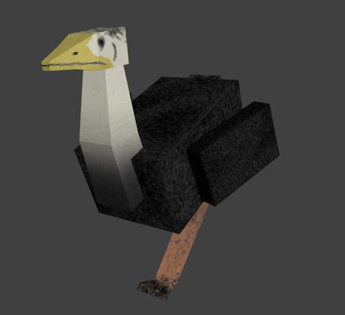 Low-poly Ostrich preview image