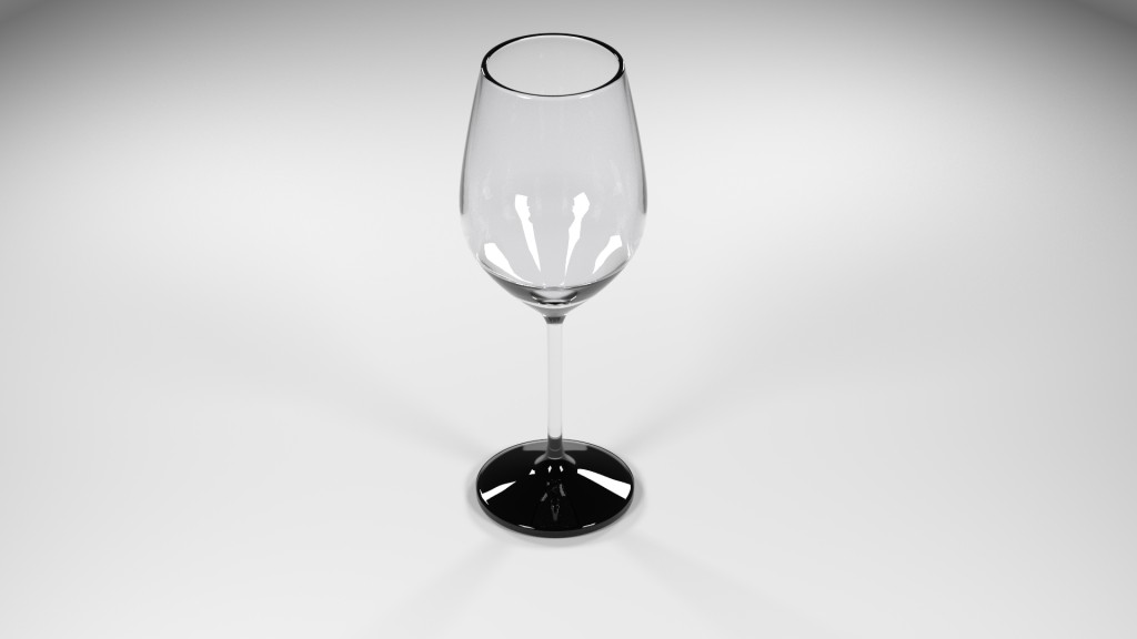 Clear Wine Glass preview image 1