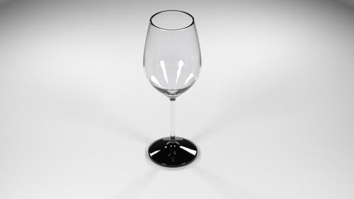 Clear Wine Glass preview image