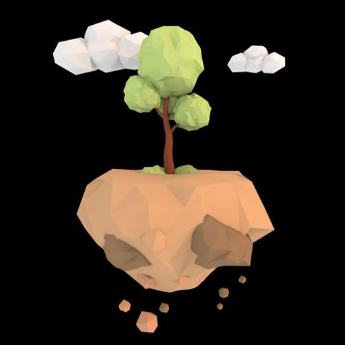 Low Poly Tree Floating Island preview image