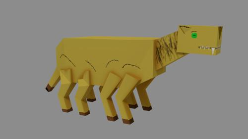 Low-poly Banth preview image