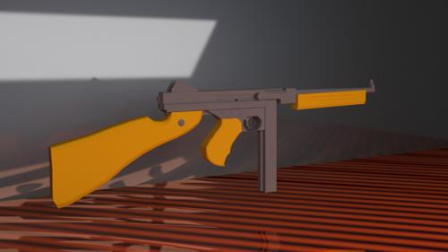 low poly thompson preview image