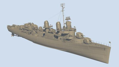 Fletcher class destroyer preview image