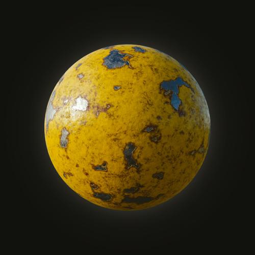 Procedural Painted Metal Material preview image
