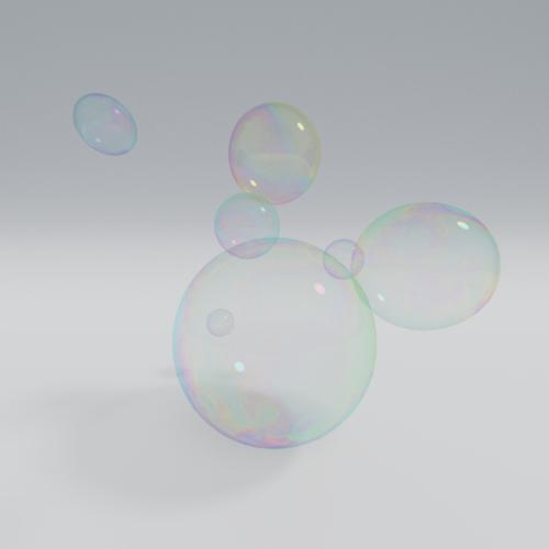 Animated soap bubble shader preview image