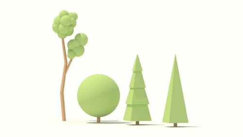Low Poly Trees - Youtube Tutorial preview image
