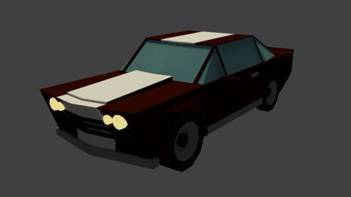 Low Poly Racecar preview image