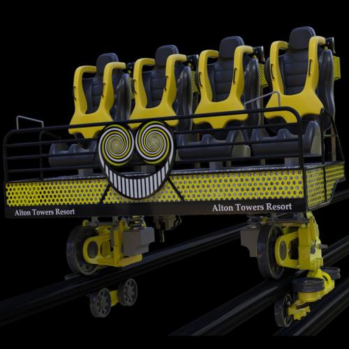The Smiler Alton Towers Roller Coaster Car (Unrigged) preview image