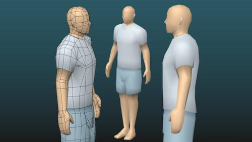 Low-poly blank male character preview image